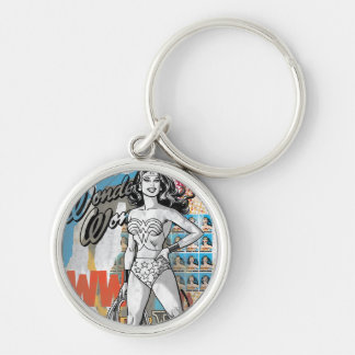 Wonder Woman Collage 2 Keychain