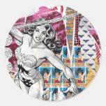 Wonder Woman Collage 5 Classic Round Sticker