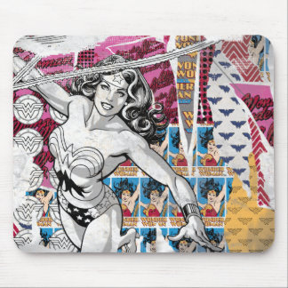 Wonder Woman Collage 5 Mouse Pad