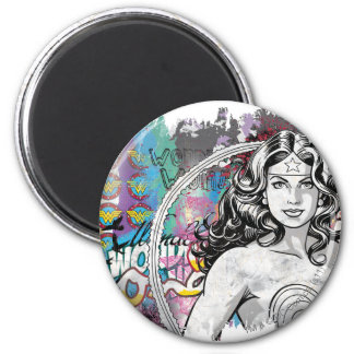 Wonder Woman Collage 6 Refrigerator Magnet