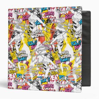 Wonder Woman Collage 7 Vinyl Binders