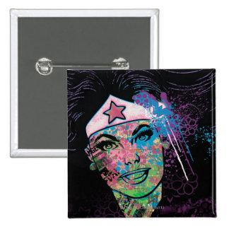 Wonder Woman Colorful Collage Pinback Button