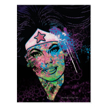 Wonder Woman Colorful Collage Postcard
