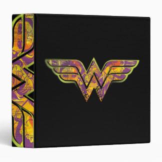 Wonder Woman Colorful Logo 3 Ring Binder