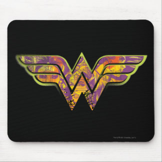 Wonder Woman Colorful Logo Mouse Pad