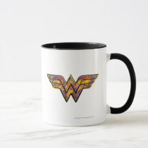 wonder woman, wonder, woman, wonderwoman, wonder woman comic, superheroine, all star comics, amazon, superhuman strength, lasso of truth, indestructible bracelets, justice league, feminist icon, lynda carter, super friends, drawing, Caneca com design gráfico personalizado