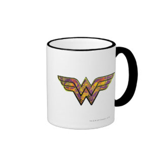 Wonder Woman Colorful Logo Ringer Mug