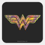 Wonder Woman Colorful Logo Sticker