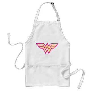Wonder Woman Colorful Pink and Yellow Logo Adult Apron