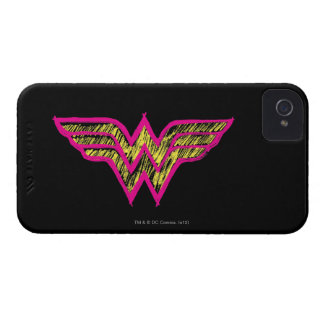 Wonder Woman Colorful Pink and Yellow Logo Case-Mate iPhone 4 Case