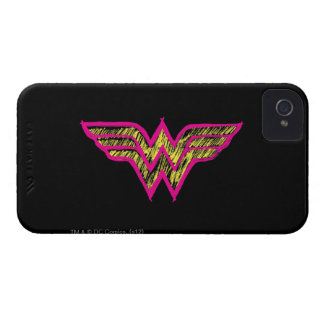 Wonder Woman Colorful Pink and Yellow Logo iPhone 4 Cover