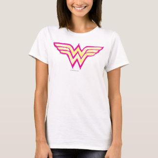Wonder Woman Colorful Pink and Yellow Logo T-Shirt