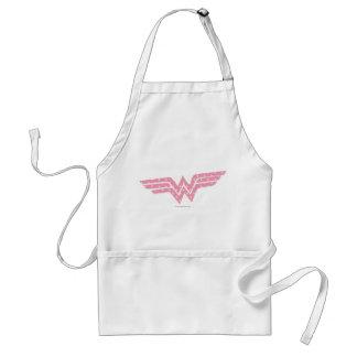 Wonder Woman Colorful Pink Floral Logo Adult Apron