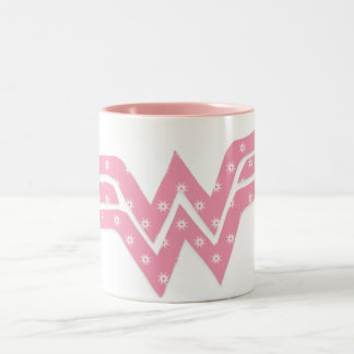 Wonder Woman Colorful Pink Floral Logo Mugs