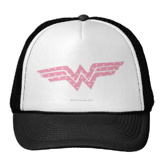 Wonder Woman Colorful Pink Floral Logo Trucker Hat