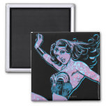Wonder Woman Colorful Pose 2 Inch Square Magnet