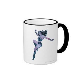 Wonder Woman Colorful Pose Mugs