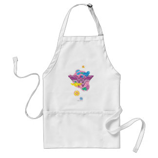 Wonder Woman Colorful Scribbles Aprons