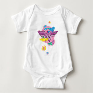 Wonder Woman Colorful Scribbles Baby Bodysuit