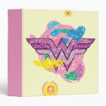 Wonder Woman Colorful Scribbles Binders