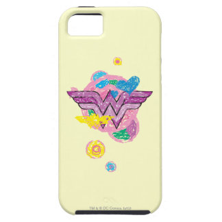 Wonder Woman Colorful Scribbles iPhone 5 Covers