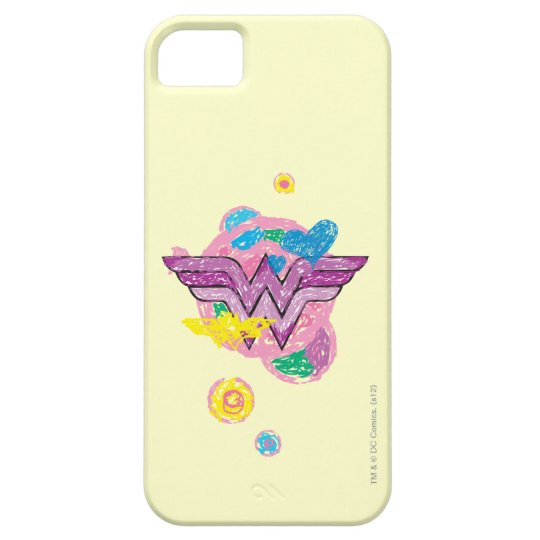 Wonder Woman Colorful Scribbles iPhone SE/5/5s Case