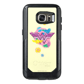 Wonder Woman Colorful Scribbles OtterBox Samsung Galaxy S7 Case