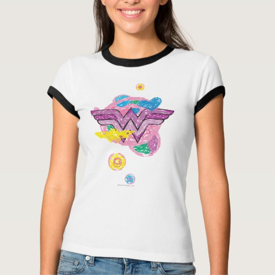 Wonder Woman Colorful Scribbles T-Shirt