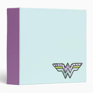 Wonder Woman Colorful Sketch Logo 3 Ring Binder