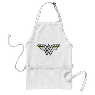 Wonder Woman Colorful Sketch Logo Adult Apron