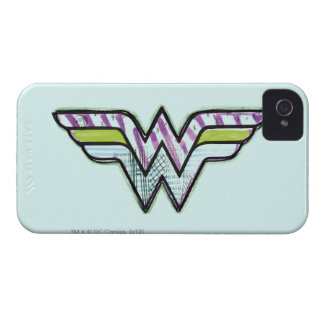 Wonder Woman Colorful Sketch Logo Case-Mate iPhone 4 Case