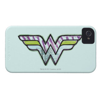 Wonder Woman Colorful Sketch Logo Case-Mate iPhone 4 Case