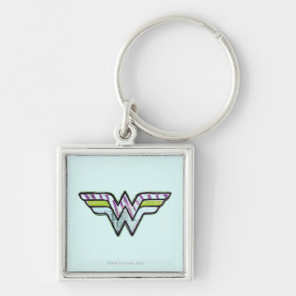 Wonder Woman Colorful Sketch Logo Keychain