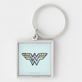 Wonder Woman Colorful Sketch Logo Keychain