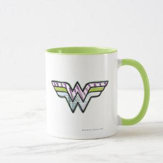 Wonder Woman Colorful Sketch Logo Mug