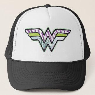 Wonder Woman Colorful Sketch Logo Trucker Hat