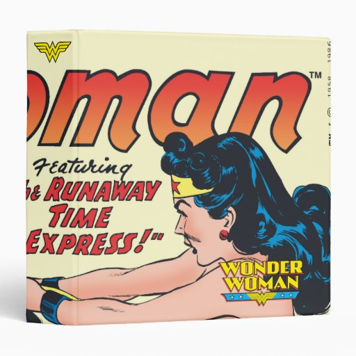 Wonder Woman Comic Cover 3 Ring Binders