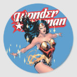 Wonder Woman Comic Cover Classic Round Sticker