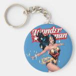 Wonder Woman Comic Cover Basic Round Button Keychain