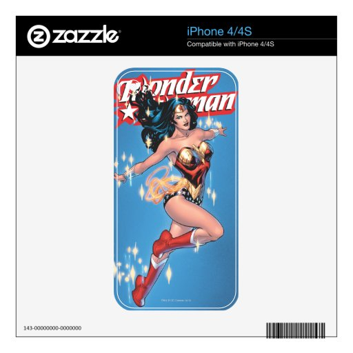 Wonder Woman Comic Cover iPhone 4S Decal