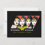 Wonder Woman Comic Evolution Graphic Note Card