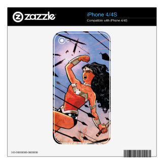 Wonder Woman Cover #1 Decals For The iPhone 4S