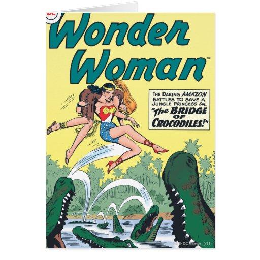 Wonder Woman Crocodiles Greeting Card