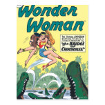 Wonder Woman Crocodiles Postcard