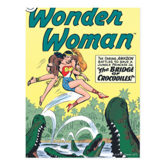 Wonder Woman Crocodiles Postcard