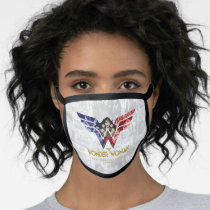 Wonder Woman Crossed Arms in Logo Collage Face Mask