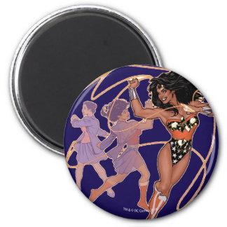 Wonder Woman Diana Prince Transformation 2 Inch Round Magnet