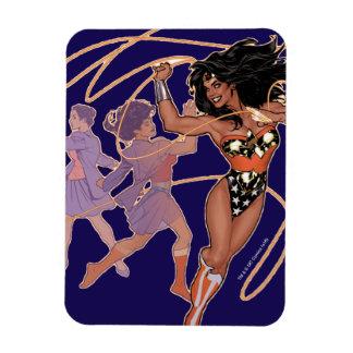 Wonder Woman Diana Prince Transformation Rectangular Photo Magnet
