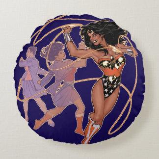 Wonder Woman Diana Prince Transformation Round Pillow