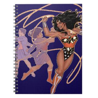 Wonder Woman Diana Prince Transformation Spiral Notebook